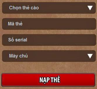 hướng dẫn nạp thẻ trong game kết giới online điện thoại